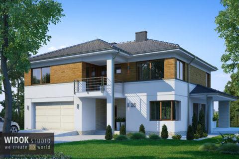 Domy piętrowe 3D