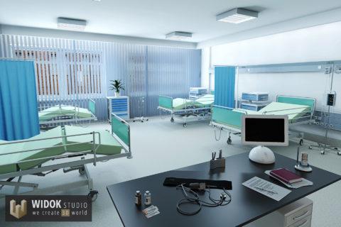 Wizualizacja 3D szpitala