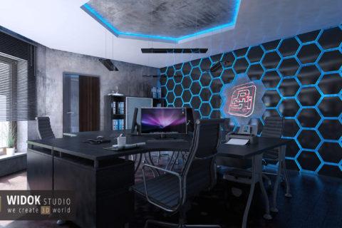 Wizualizacje biura 3D