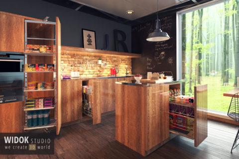 Wizualizacje kuchni 3D