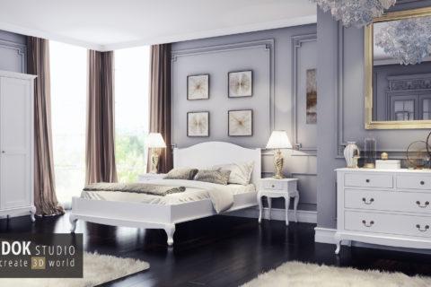 Wizualizacje sypialni 3D